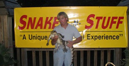 Dan the Snakeman and the Alligator