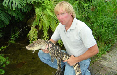 Dan the Snakeman and Elvis the Alligator